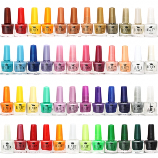 50 Nail Polish Set 45+ Colours 2 Luxury Box 5 ML (693384791026)