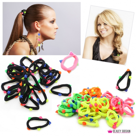 100 pcs Hair Elastic Bands Different Colours
