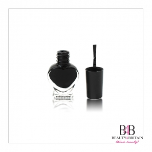 6 Black Nail Polish Set