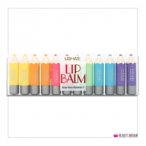 12 Lip Balm Pencil Shaped 6 Flavours