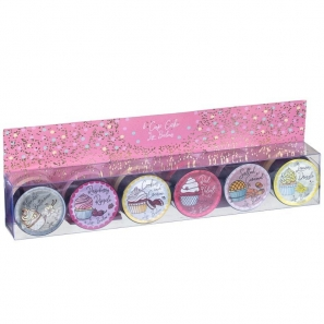 6 Cup Cake Lip Balm Set 6 Flavours