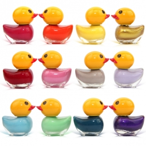 12 Nail Polish Duck Shaped 12 Different Colours