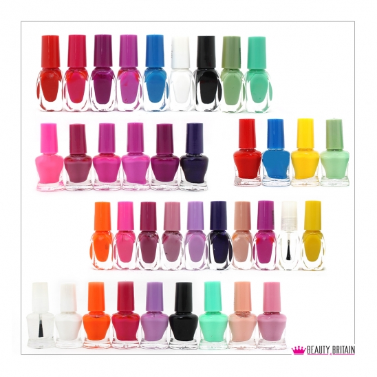50 Nail Polish Set 17 Different Colours