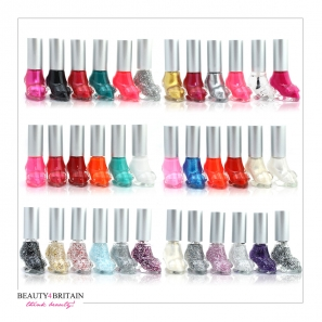 36 Shoe Shaped Nail Polish Colours Set