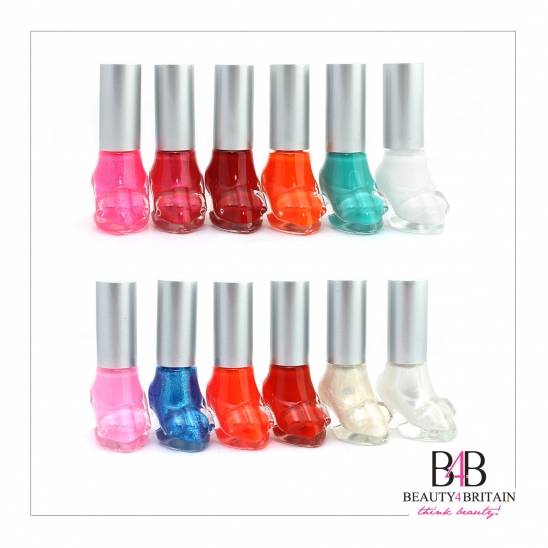 12 Nail Polish Set Shoe Shaped 12 Colours