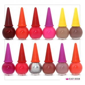 24 Nail Polish Set Ice Cream Shaped