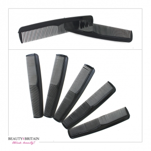24 Black Plastic Comb Set