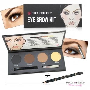 Eyebrow Kit City Color + Luxury Black Eyeliner