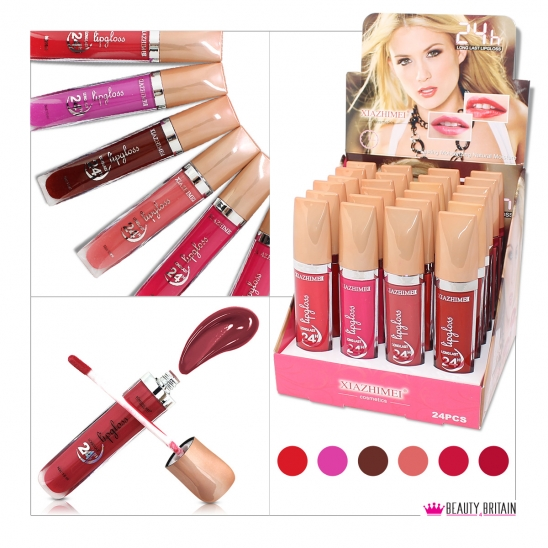 24 Lip Gloss Set Romantic Bird
