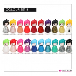 24 Nail Polish Set Doll Shape