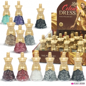 12 Nail Polish Set Dress Shaped (A)