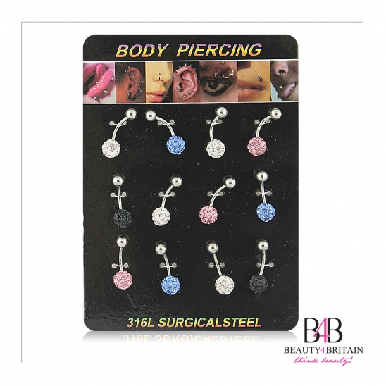 12 Belly Button Navel Rings