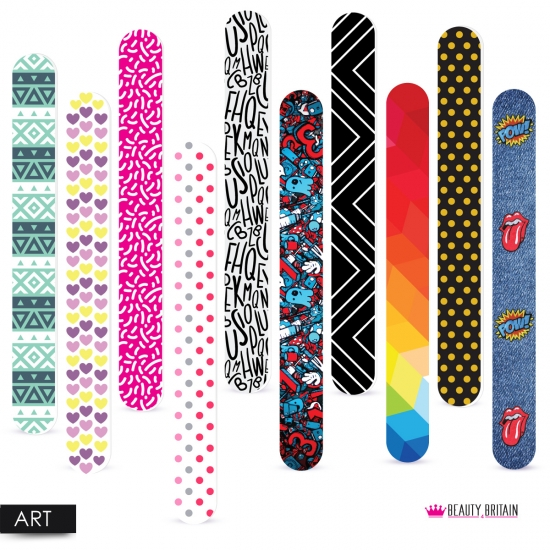 10 Nail Files 10 Designs/6 Styles - Click Image to Close