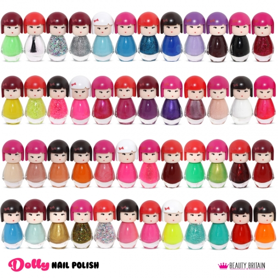 48 Nail Polish Set Doll Shaped - Click Image to Close