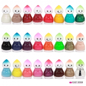 24 Nail Polish Set Baby Face 24 Different Colours Set A