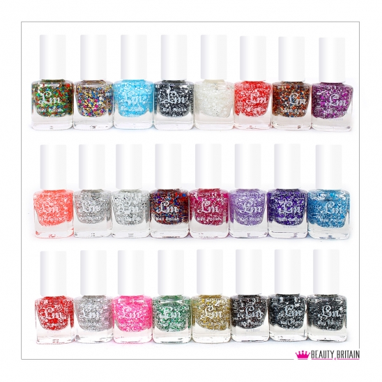 24 Glitter Nail Polish /20 Different Colours