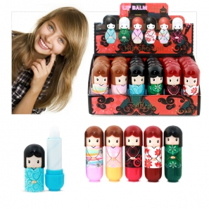 24 Lip Balm Dolls 6 Flavours Non Colour