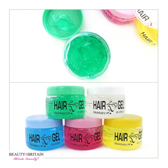 12 Hair Gel Styling 5 Colours 150 ml