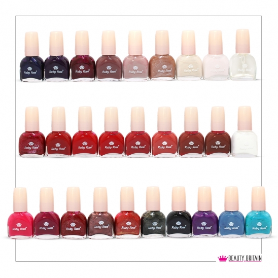 28 Pearl Nail Polish Set Ruby Rose