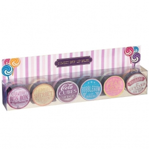 6 Sweet Shop Lip Balm Set 6 Flavours