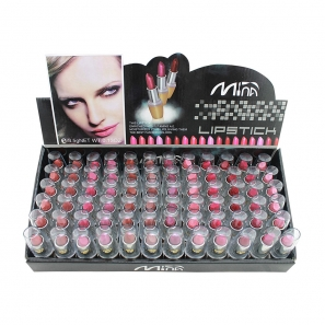 72 Lipstick Luxury Assorted Colours in Display Box
