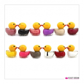 12 Nail Polish Duck Shaped (12 Different Colours) Set E