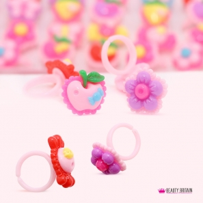 100 Kids Rings Mixed Designs
