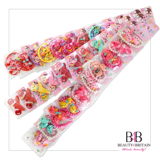 100 Hair Clips and Barrettes - Click Image to Close