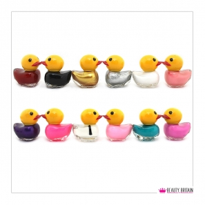 12 Nail Polish Duck Shaped (12 Different Colours) Set B