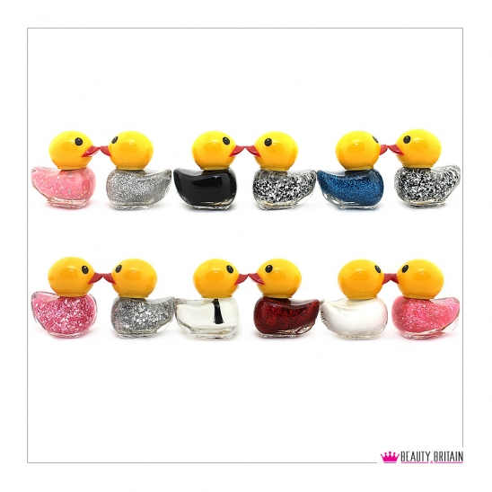 12 Nail Polish Duck Shaped (12 Different Colours) Set A