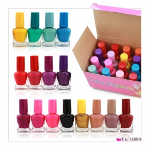 48 Nail Polish 48 Different Bright Colours Set