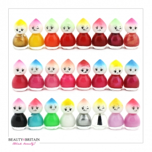 24 Nail Polish Set Baby Face Shaped (Set C)