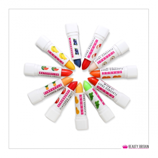 12 Magic Lip Balms 12 Different Fruity Flavours - Click Image to Close