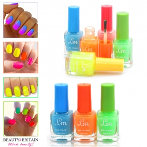 24 Nail Polish Set (6 Shining Neon Colours)