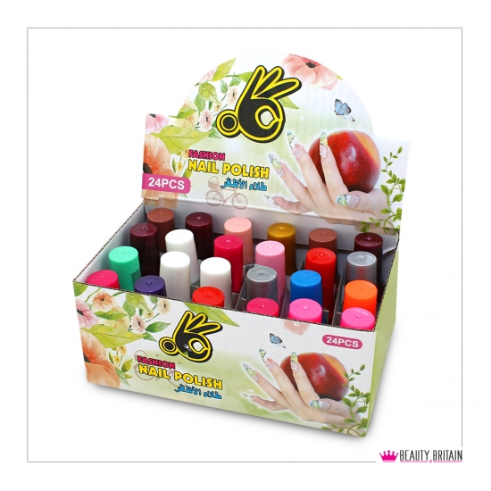 48 Nail Polish 2 Boxes Different Colours - Click Image to Close