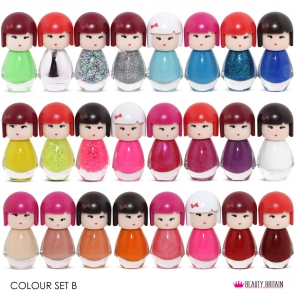 24 Nail Polish Set Doll Shaped
