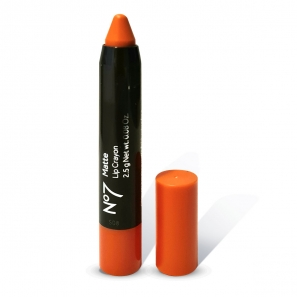 No7 Matte Lip Crayon 2.5g Blazing Coral Pack of 6