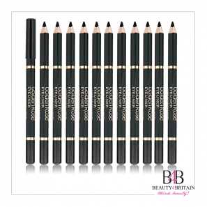 12 Black EyeLiner Pencils Golden Rose