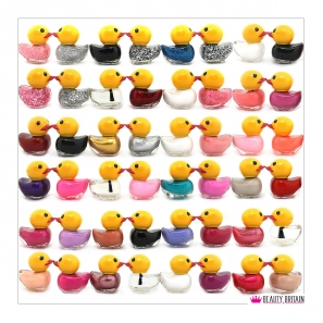 48 Nail Polish Set Funny Duck Shaped