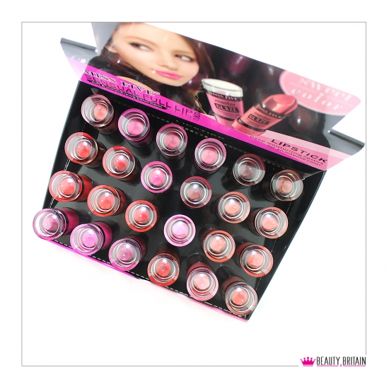 24 Lipstick Set Miss Five Glaze - Click Image to Close
