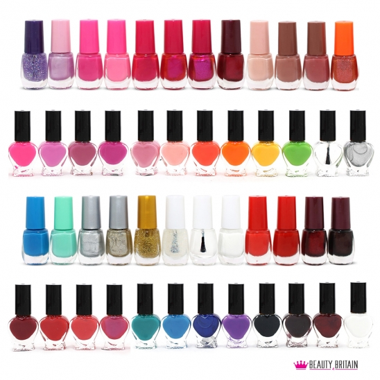50 Nail Polish Set Assorted Colours