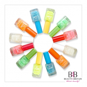 24 Nail Polish (6 Bright Neon Colours) Set