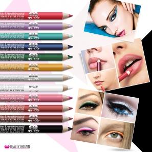 12 EyeLiner LipLiner Pencils Davis Different Colours
