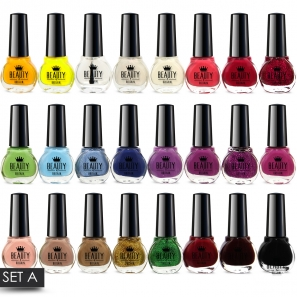 24 Nail Polish 24 Different Shades Set A