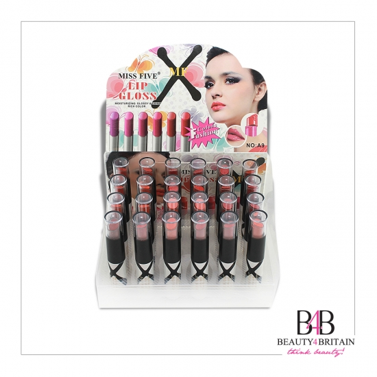 24 Lipstick Lip Gloss Miss Five (Different Colours) - Click Image to Close