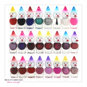 24 Nail Polish Set Snowman Shaped