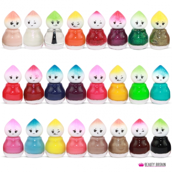 24 Nail Polish Set Baby Face 24 Different Colours Set A - Click Image to Close