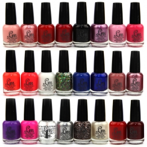 24 Nail Polish Set LM Zipper Cases