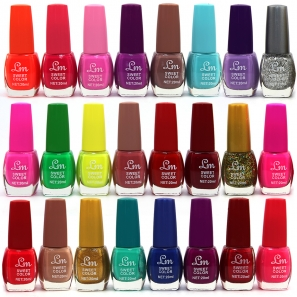 24 Nail Polishes Sweet Colours
