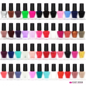 48 Matte Nail Polish Set 48 Colours High Coverage Quick Dry